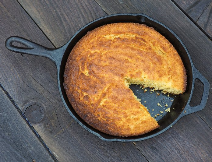 Honey Sweetened Skillet Cornbread