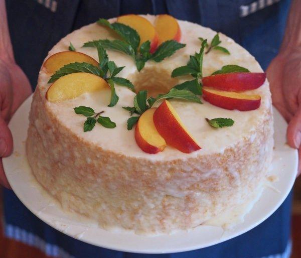 Recipe} Chiffon Cake with Lemon Glaze & Nectarines - Growing Some ...