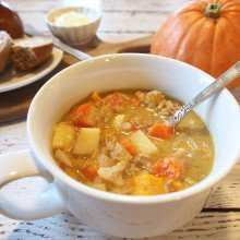 Pork, Pumpkin & Apple Cider Stew