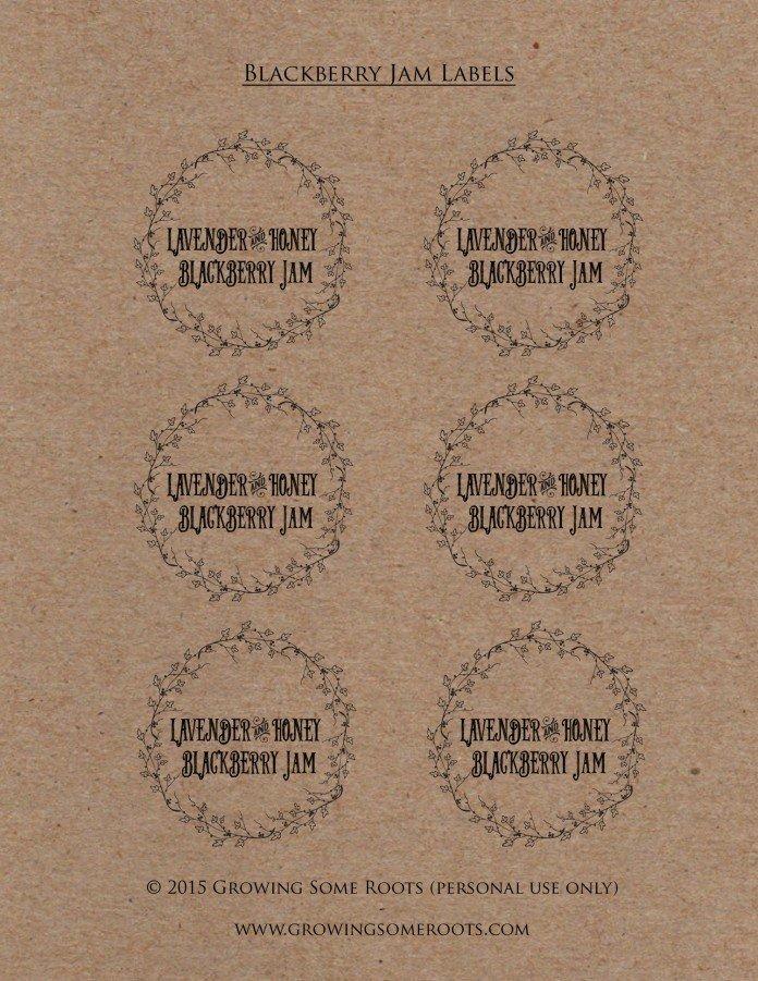 Lavender Blackberry Jam Labels